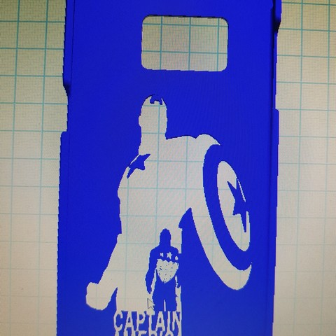 20170203_112938.jpg Download free STL file Samsung galaxy s7 captain america • 3D printer object, craazysnak3