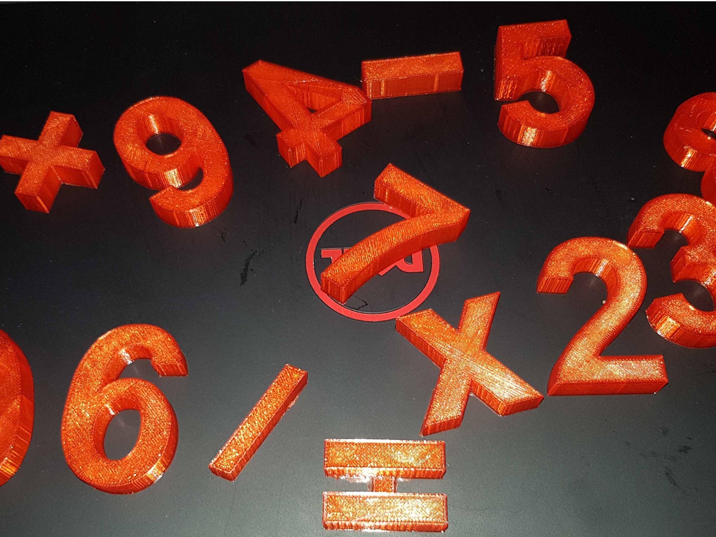 20180104_170413.jpg Télécharger fichier STL The numbers • Objet pour imprimante 3D, n256