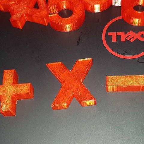20180104_1706103.jpg Télécharger fichier STL The numbers • Objet pour imprimante 3D, n256