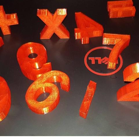 20180104_170526.jpg Télécharger fichier STL The numbers • Objet pour imprimante 3D, n256