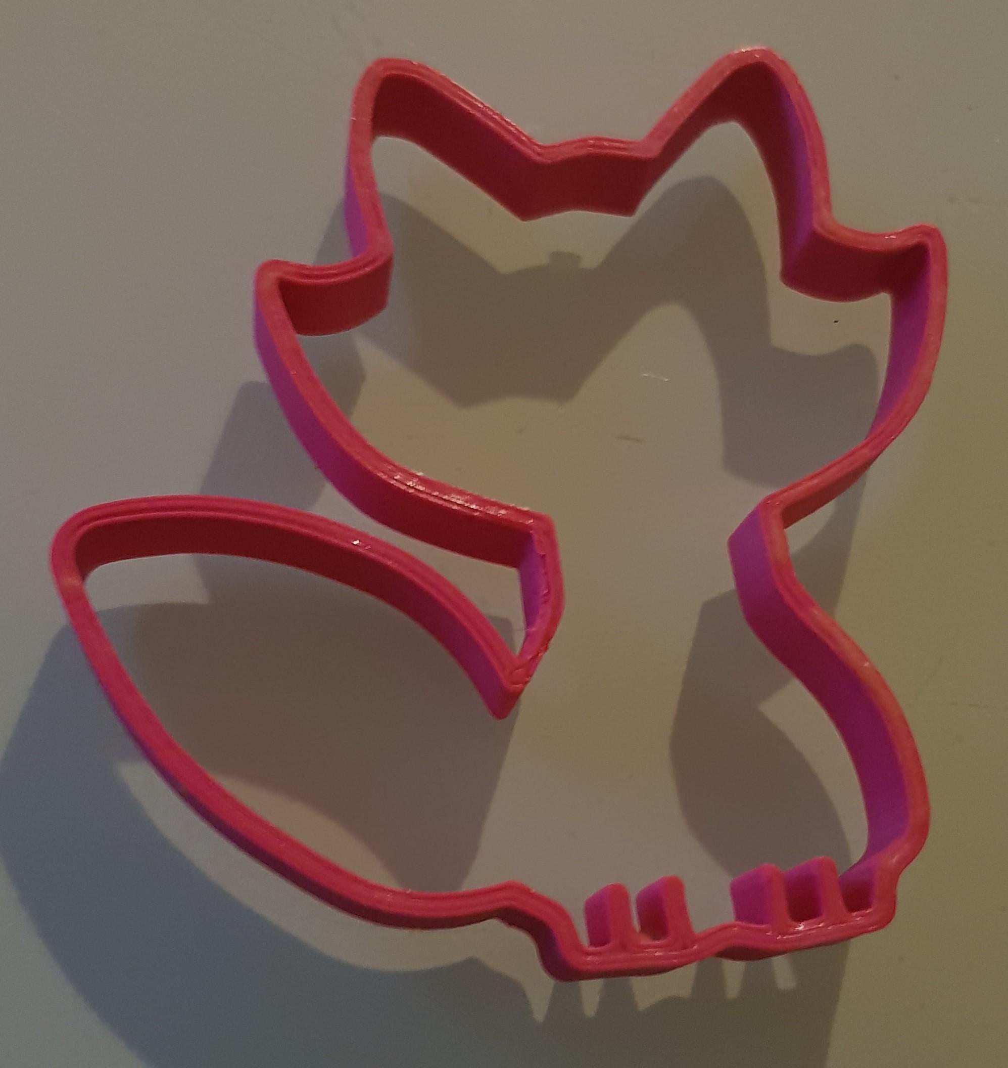 20180823_222723.jpg Download STL file Fox cutter • 3D printer object, n256