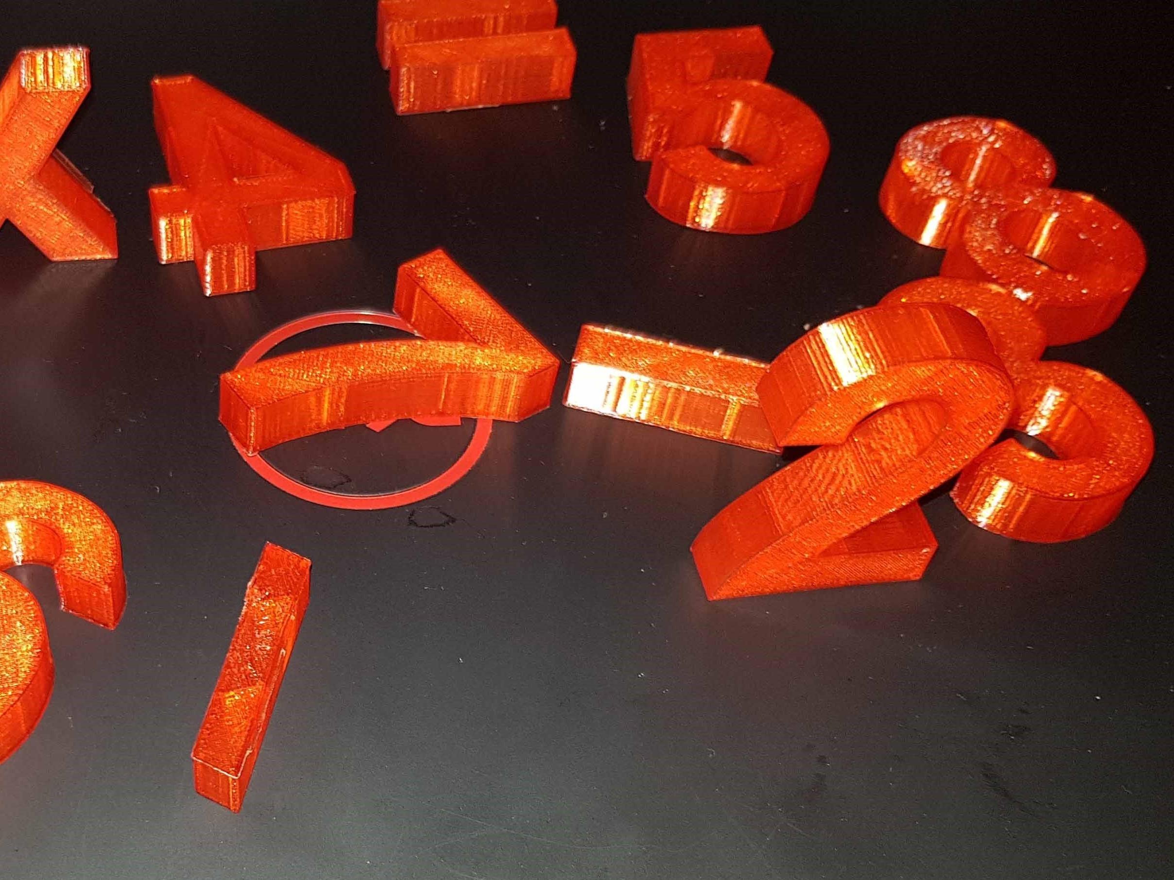 20180104_170511.jpg Télécharger fichier STL The numbers • Objet pour imprimante 3D, n256