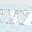 Free 3D file Alphabet, n256