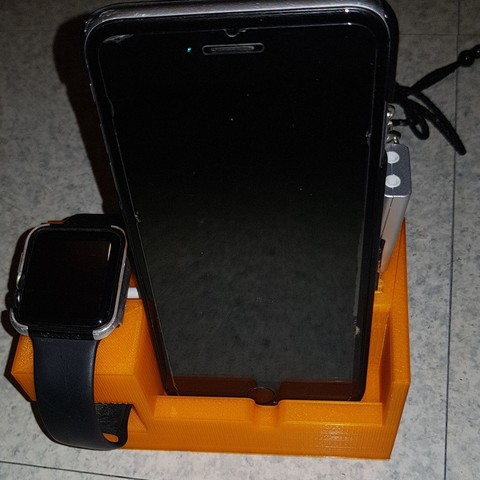 20180201_183844.jpg Download STL file iPhone and Apple Watch charging support • 3D printer template, n256