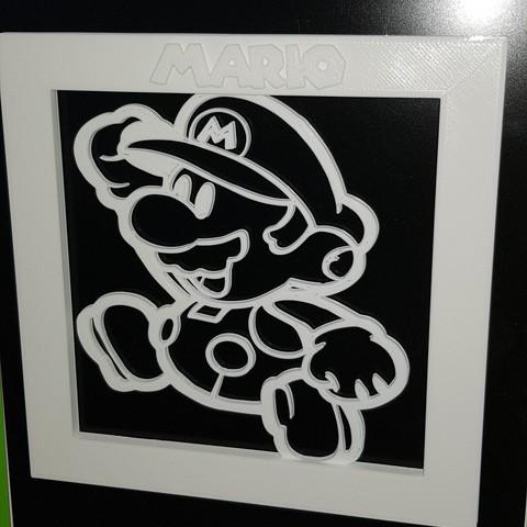 2.jpg Télécharger fichier STL Cadre Mario 3D • Objet imprimable en 3D, n256