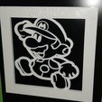 Free 3d printer model Mario 3D Frame, n256