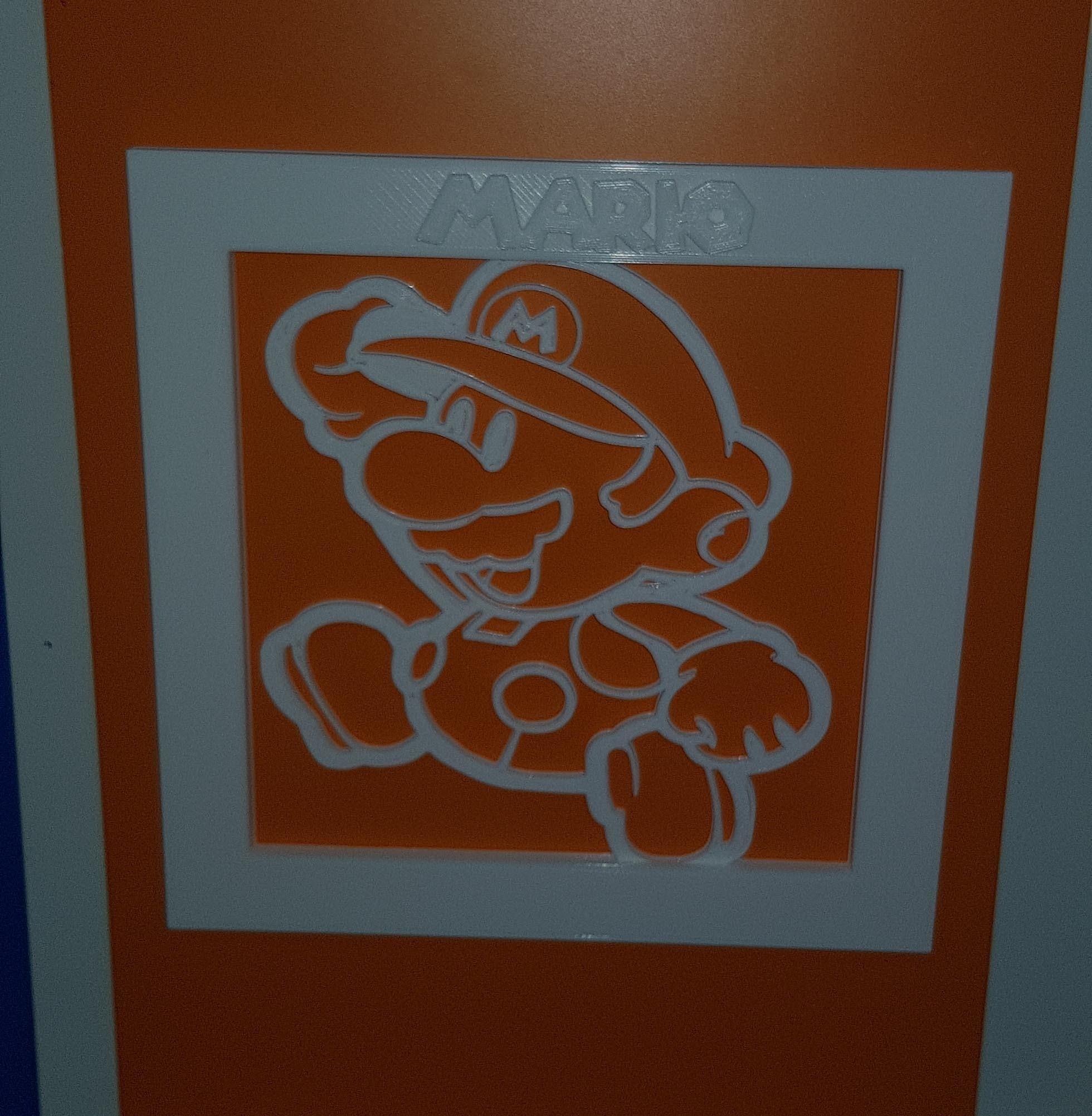 3.jpg Télécharger fichier STL Cadre Mario 3D • Objet imprimable en 3D, n256