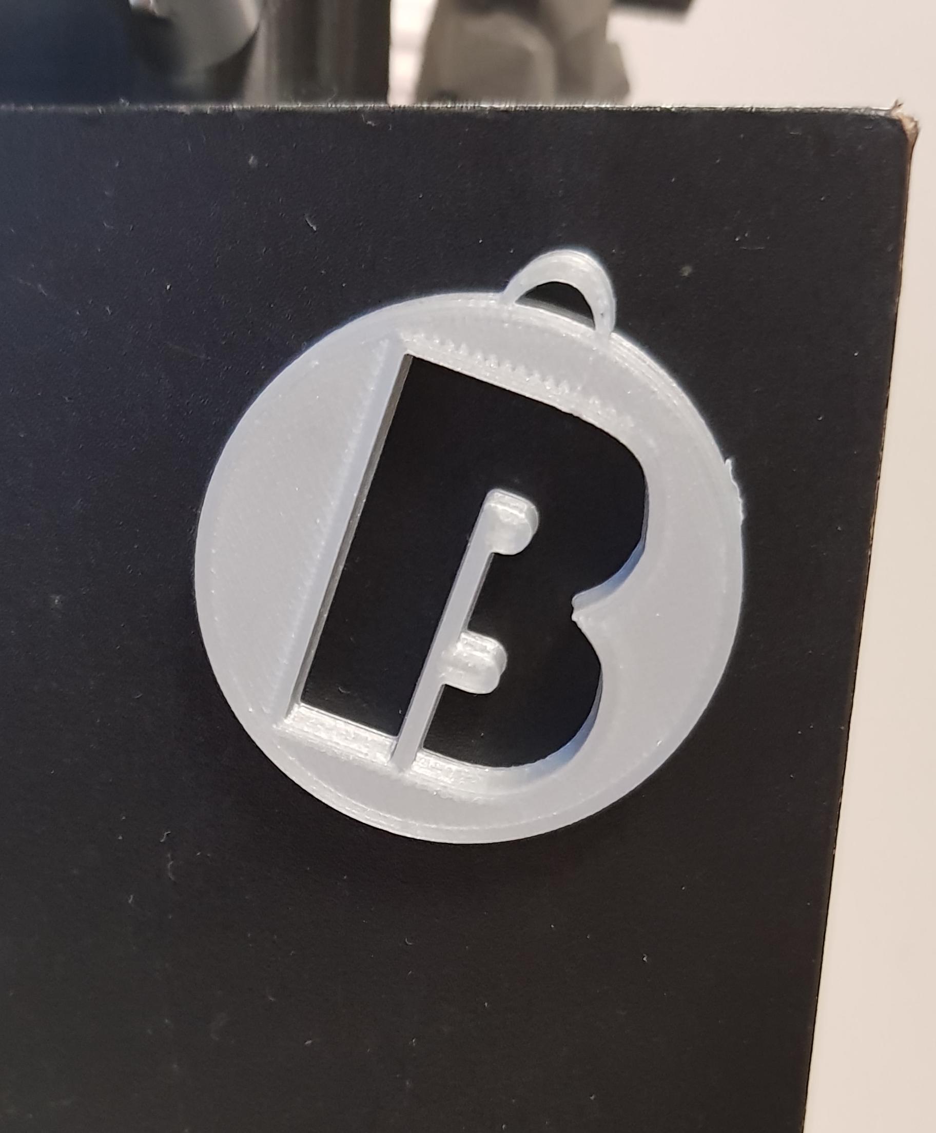 B.png Download STL file Alphabet Pendants • 3D printing model, n256