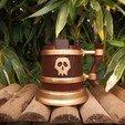 Download free 3D printing files Skull Mug, Metalgonzo