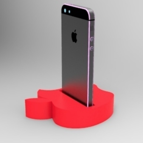 Download free 3D printer templates Iphone 5 dock, 3Delivery