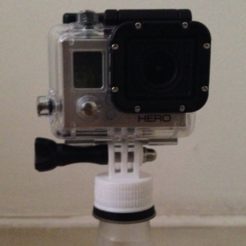 Download free 3D printing designs Bottle cap mount for Go Pro, 3Delivery