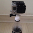 Free 3d printer designs Bottle cap mount for Go Pro, 3Delivery