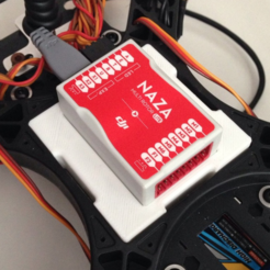 Imprimir en 3D gratis Monte en FPV250 quad para Naza, 3Delivery