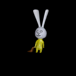 figlia 2.png Download STL file Baby rabbit • 3D printing model, jirby