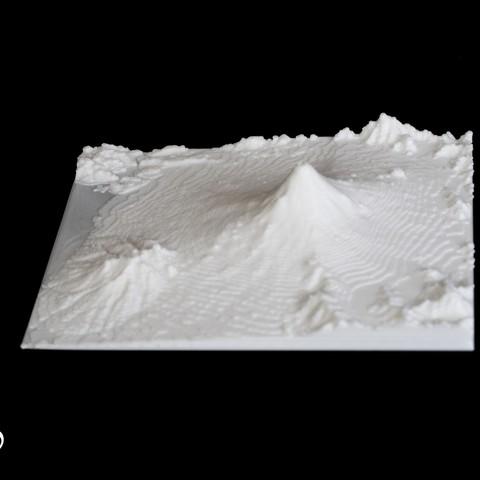 Download STL 3D Map - Mount Fuji, Japan, OTTO3D