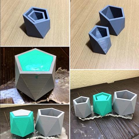 Free 3D printer designs Matrix for silicone rubber mold production, OTTO3D