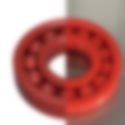 Download free STL Ball Bearing, OTTO3D