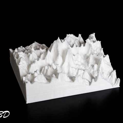 Free STL file 3D Map - Everest, Himalayas, OTTO3D
