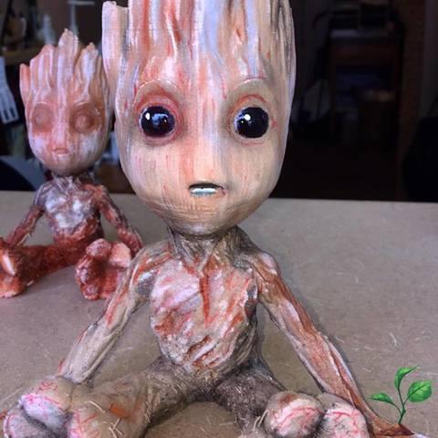 Free STL Baby Groot, KATRAZ
