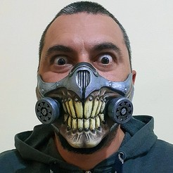Download free 3D printer model covid mask immortan joe mad max, KarlosMeriva