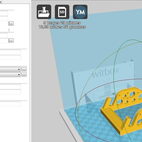 CURA support tablette 10 pouces.jpg Download free STL file Support for 10 'tablet with 2 tilts • 3D print template, njl057