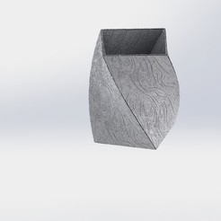 Download STL files Spiral cube vase, younique2097