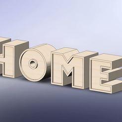 home.JPG Télécharger fichier STL Lettre home • Plan pour imprimante 3D, younique2097