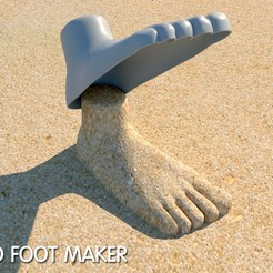 Download free 3D printing files sand foot maker, kimjh