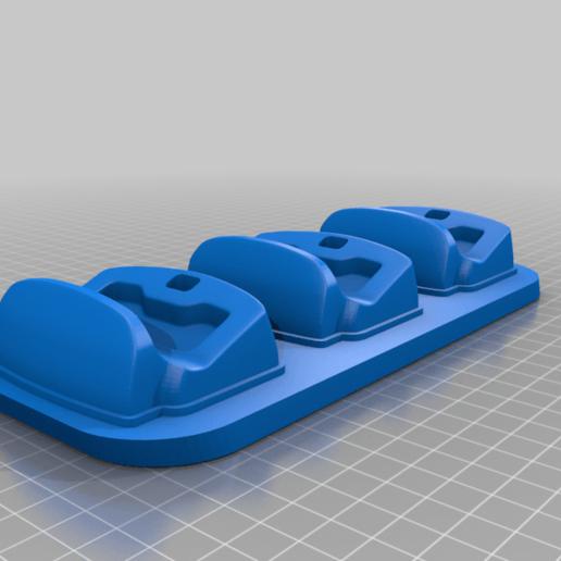 dsc-3slots.png Télécharger fichier STL gratuit Berceau à double choc 4 • Design imprimable en 3D, kimjh