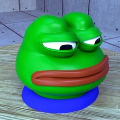 Download free STL file Pepe the frog, kimjh