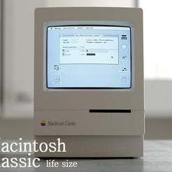 Download free 3D printer designs macintosh classic housing (life size), kimjh