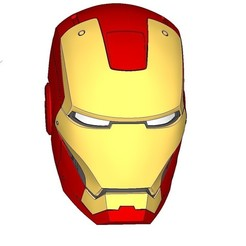 Free 3D print files IRON MAN HEAD, kimjh
