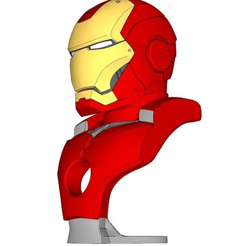Free STL file IRON MAN BUST_by max7th, kimjh