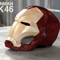 Télécharger fichier STL gratuit casque iron man mark 46 • Plan à imprimer en 3D, kimjh