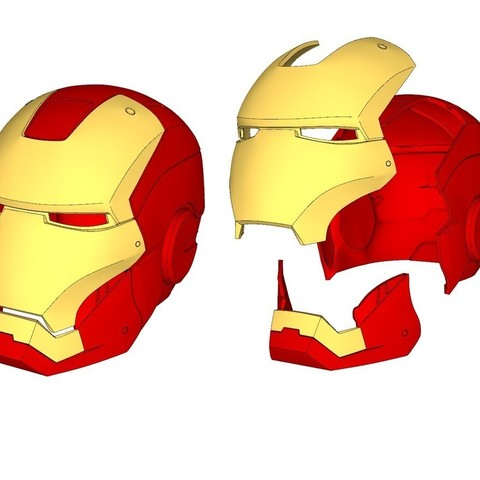 Download free 3D printing designs iron man helmet (wearable), kimjh