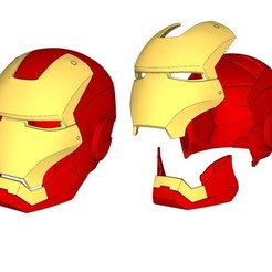Free 3D printer designs iron man helmet (wearable), kimjh