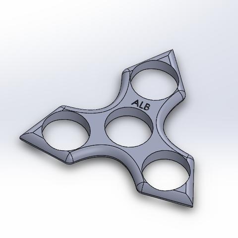 Download STL file Hand Spinner sharp edges. • 3D printable object, LeSuppo