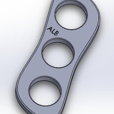 Download 3D printer files Hand Spinner 3 bearings, LeSuppo