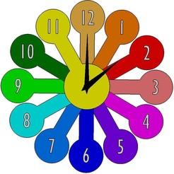 Vue horloge.jpg Télécharger fichier STL Horloge moderne secteur clock moderne • Plan à imprimer en 3D, Aldebaran