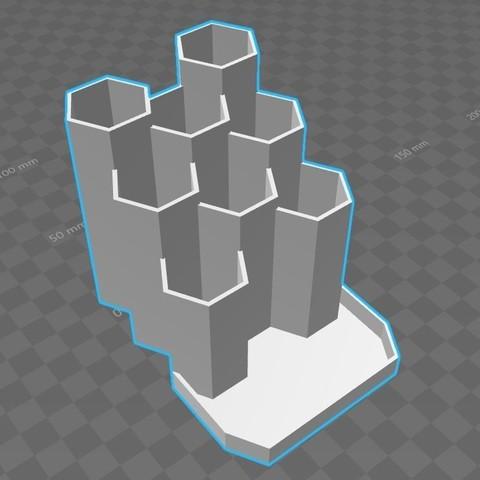 Télécharger plan imprimante 3D gatuit Porte crayon pen honey, Aldebaran