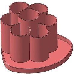 FLOWER V01 02.jpg Télécharger fichier STL porte crayon pen holder • Design à imprimer en 3D, Aldebaran