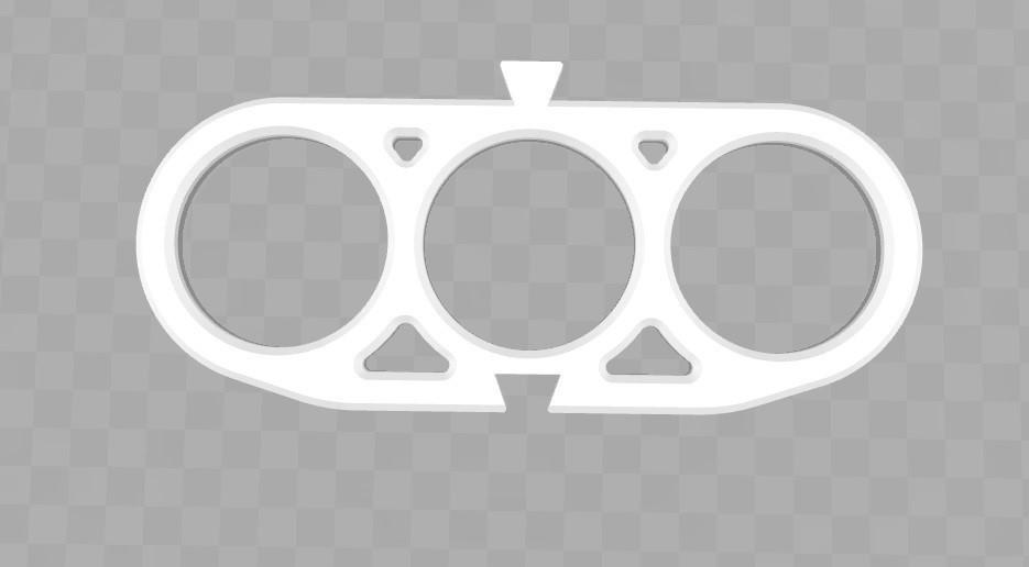 triple.jpg Download STL file Scarf holder with tie and scarf belt • 3D printable design, Aldebaran