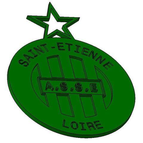 Télécharger plan imprimante 3D gatuit ASSE - AS Saint étienne Logo, Aldebaran