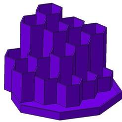 HEXA V01 01.jpg Télécharger fichier STL Porte crayon pen holder • Design à imprimer en 3D, Aldebaran