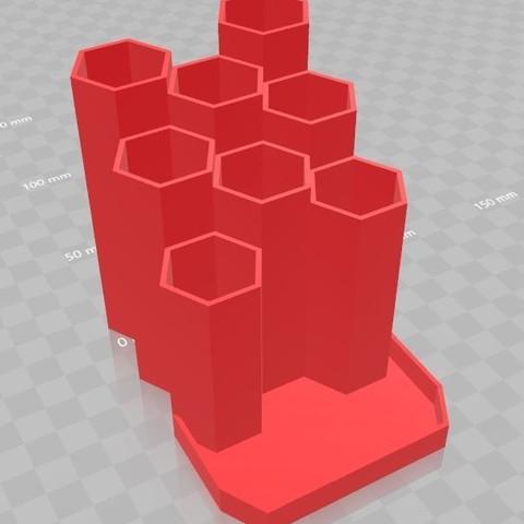 Capture3.JPG Download STL file Pencil holder pen honey • 3D printing design, Aldebaran