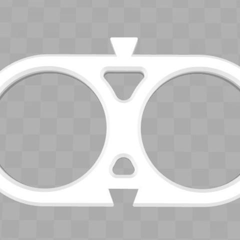 double.jpg Download STL file Scarf holder with tie and scarf belt • 3D printable design, Aldebaran