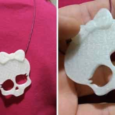 Download free 3D printing files Monsters high skull pendant, cyrus