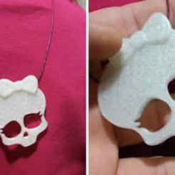 Capture d'écran 2016-12-23 à 10.27.11.png Download free STL file Monsters high skull pendant • 3D printing template, cyrus