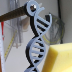 Download free 3D printer designs DNA keychain, cyrus