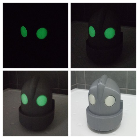 Download free 3D printer designs iron giant head, cyrus